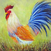 Strutting My Stuff, Rooster Art Print