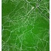 Stuttgart Street Map - Stuttgart Germany Road Map Art On Colored Art Print