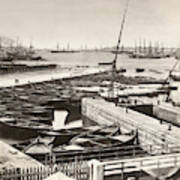 Suez Canal Port Said Art Print