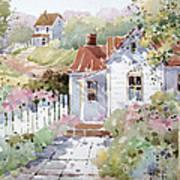 Summer Time Cottage Art Print