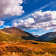 Sunny Day At Rest And Be Thankful. Scotland Art Print