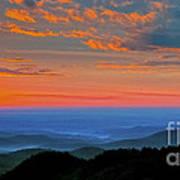 Sunrise Blue Ridge Parkway Art Print