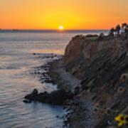 Sunset At Point Vincent Lighthouse Art Print