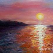 Sunset In Ixtapa Art Print