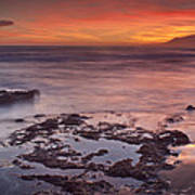 Sunset In Marbella Art Print