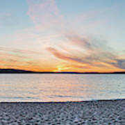 Sunset On South Bay, Lake Superior Art Print