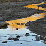 Sunset Reflected In Stream, Arizona Art Print