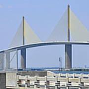 Sunshine Skyway Bridge I Tampa Bay Florida Usa Art Print