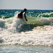 Surfing In California Art Print