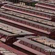 Switch Yard For Box Cars Art Print
