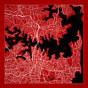 Sydney Street Map - Sydney Australia Road Map Art On Color Art Print