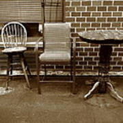 Table And Chairs Art Print