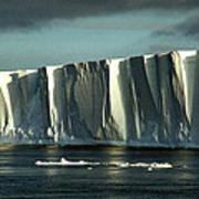 Tabular Iceberg Antarctica Art Print