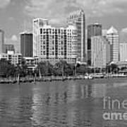 Tampa Skyline From Davis Islands Art Print