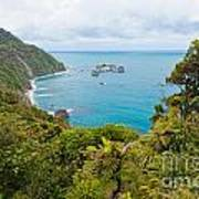 Tasman Sea At West Coast Of South Island Of New Zealand Art Print
