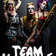 Team Violence Art Print