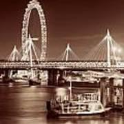Thames River Night View Art Print