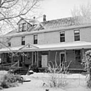 the ananda arthouse in the former st josephs rectory in Forget Saskatchewan Canada Art Print by Joe Fox