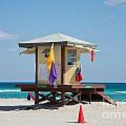 The Beach In Hollywood Florida Art Print