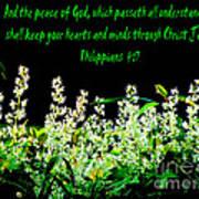 The Bible Philippians 4 Art Print