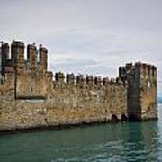 The Castle Of Sirmione. Lago Di Garda Art Print