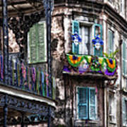The French Quarter During Mardi Gras Art Print
