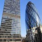 The Gherkin Building In London England Art Print