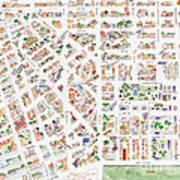 The Greenwich Village Map Art Print