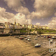 The Harbour At Tenby  Art Print