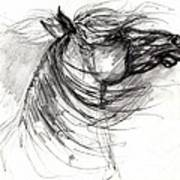 The Horse Sketch Art Print