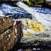 The Stream In Mountain Art Print