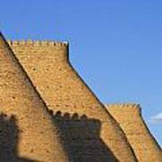 The Walls Of The Ark At Bukhara In Uzbekistan Art Print