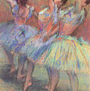 Three Dancers Art Print by Edgar Degas