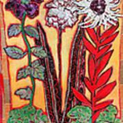 Three Flowers Art Print by Diane Fine