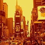 42nd Street And Times Square Manhattan Art Print