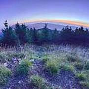Top Of Mount Mitchell After Sunset Art Print