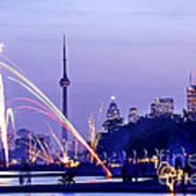Toronto Fireworks Art Print