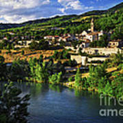 Town Of Sisteron In Provence Art Print by Elena Elisseeva