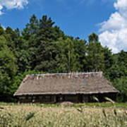 Traditional Polish Cottage House Art Print