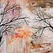 Tree Silhouette Painting Art Print