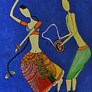 Tribal Dance From India Art Print