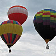 Trio Of Balloons  Art Print
