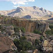Tsaranoro Mountains Madagascar 1 Art Print
