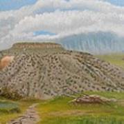 Tucumcari Mountain Reflections On Route 66 Art Print