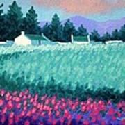 Turquoise Meadow Art Print