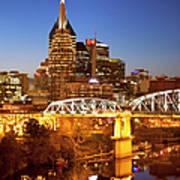 Twilight Over Nashville Tennessee Art Print by Brian Jannsen