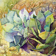 Two Fat Agaves - 140 Lb Art Print