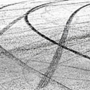 Tyre Tracks Art Print