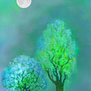 unbordered DREAM TREES AT TWILIGHT Art Print