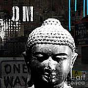 Urban Buddha  Art Print by Linda Woods